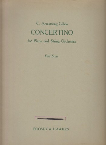 Image for Concertino for Piano and String Orchestra - Full Score