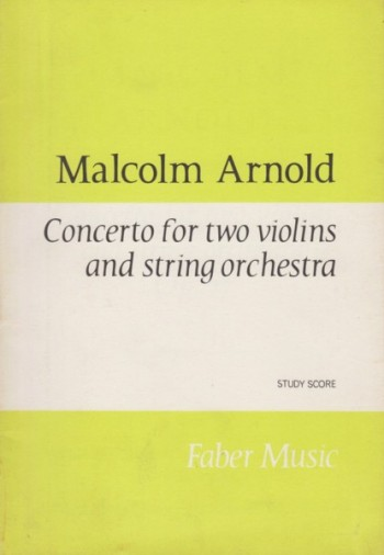 Image for Concerto for Two Violins and String Orchestra - Study Score