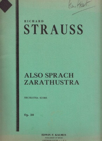 Image for Also Sprach Zarathustra, Op.30 - Full Score