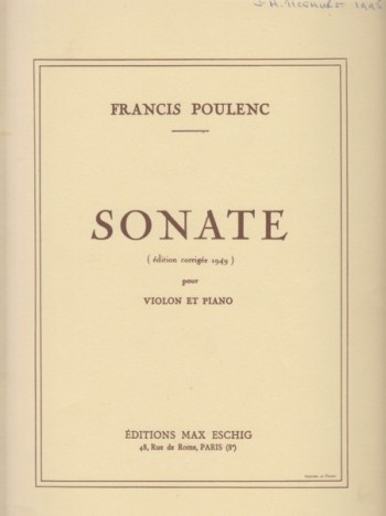 Image for Sonata for Violin and Piano