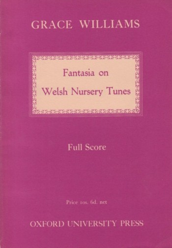 Image for Fantasia on Welsh Nursery Tunes - Study Score