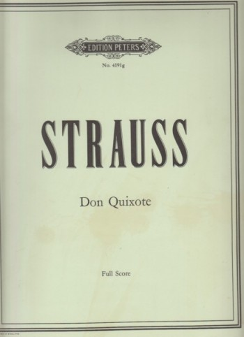 Image for Don Quixote, Op.35 - Full Score