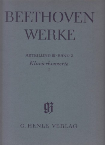 Image for Piano Concertos 1, 2 & 3,  Full Scores - Beetkoven Werke Series III Volume 2
