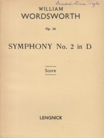 Image for Symphony No.2 in D major, Op.34 - Study Score