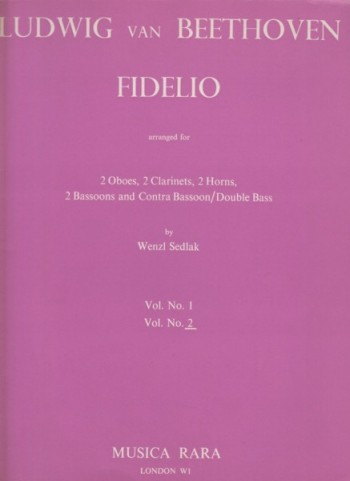 Image for Fidelio arranged for Wind Nonet Volumes 1 & 2 - Full Score and Set of Parts