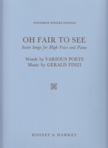 Image for Oh Fair To See - Seven Songs for High Voice and Piano