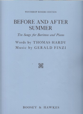 Image for Before and After Summer - Ten Songs for Baritone and Piano