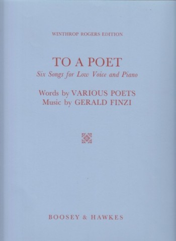 Image for To a Poet - Six Songs for Low Voice and Piano