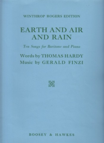 Image for Earth and Air and Rain - Ten Songs for Baritone and Piano