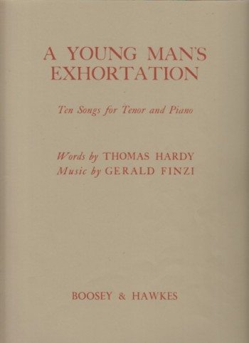 Image for A Young Man's Exhortation - Ten Songs for Tenor and Piano
