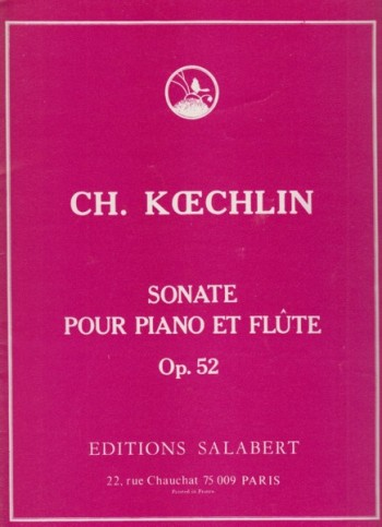 Image for Sonata for Flute and Piano, Op.52