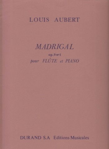 Image for Madrigal Op.9 No.1 for Flute and Piano