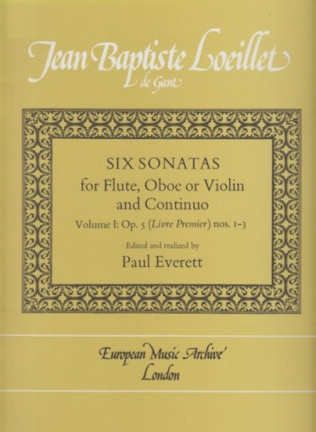 Image for Six Sonatas for Flute or Oboe or Violin and Basso Continuo, Volume I: Op.5 (Livre Premier) Nos. 1 - 3