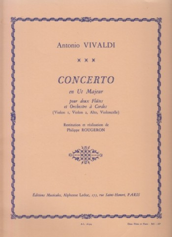 Image for Concerto in C major for Two Flutes and String Orchestra, FVI/2 (RV533) - 2 Flutes & Piano