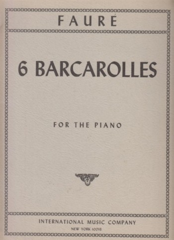 Image for 6 Barcarolles, Op.26  for Piano