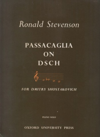 Image for Passacaglia on DSCH for Dmitry Shostakovich - Piano Solo