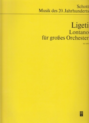 Image for Lontano for Large Orchestra - Study Score