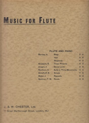 Image for Three Pictures for Flute and Piano