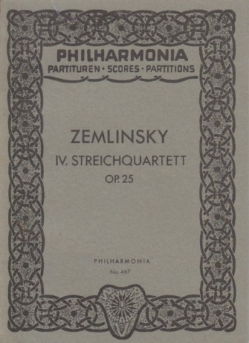 Image for String Quartet No.4, Op.25 - Study Score