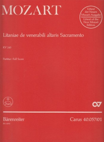 Image for Litaniae de Venerabili Altaris Sacramento in E flat major, KV 243 - Full Score