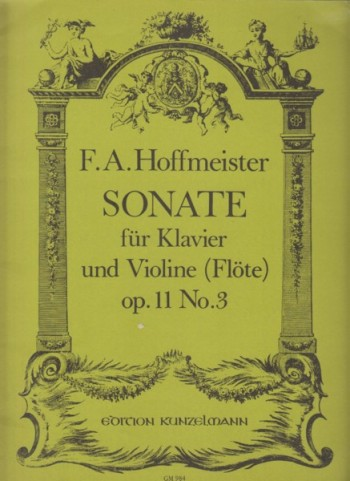 Image for Sonata in E flat major, Op.11 No.3 for Violin (or Flute) and Piano