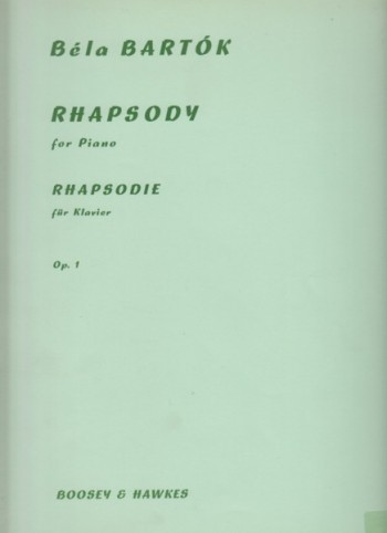Image for Rhapsody for Piano, Op.1