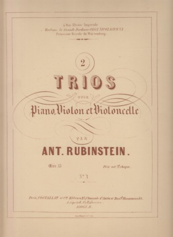 Image for Piano Trio No.1 in F major, Op.15/1 - Set of Parts