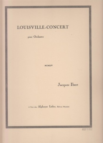Image for Louisville Concert - Full Score