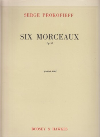 Image for Six Morceaux, Op.52 for Piano