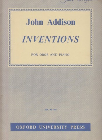 Image for Inventions for Oboe and Piano