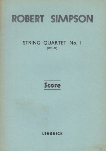 Image for String Quartet No.1 (1951-52) - Study Score