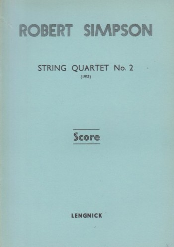Image for String Quartet No.2 (1953) - Study Score