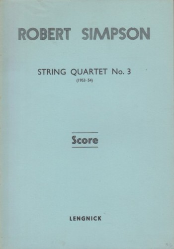 Image for String Quartet No.3 (1953 -54) - Study Score
