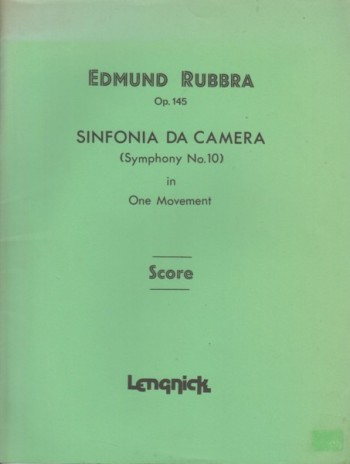 Image for Sinfonia Da Camera (Symphony No.10) in One Movement, Op.145 - Study Score