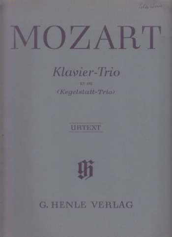 "Image for Piano Trio in E flat major, KV 498 ""Kegelstatt"" - Set of Parts"