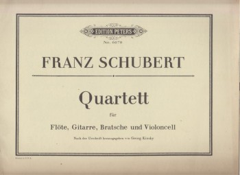 Image for Quartet for Flute, Guitar, Viola & Cello - Score & Parts