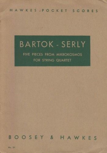 Image for Five Pieces from Mikrokosmos for String Quartet - Study Score