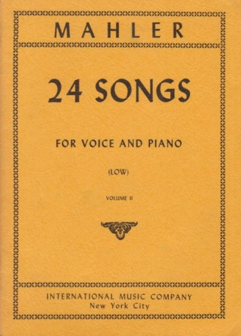 Image for 24 Songs for Voice and Piano - Volume II  Low Voice