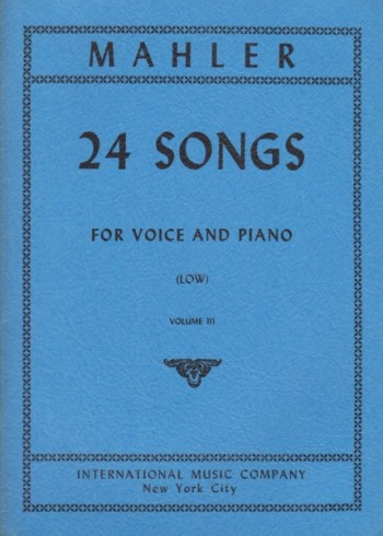 Image for 24 Songs for Voice and Piano - Volume III  Low Voice