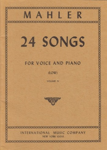 Image for 24 Songs for Voice and Piano - Volume IV  Low Voice