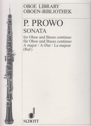 Image for Sonata in A major for Oboe and Basso continuo