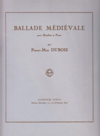 Image for Ballade Médiévale for Oboe and Piano