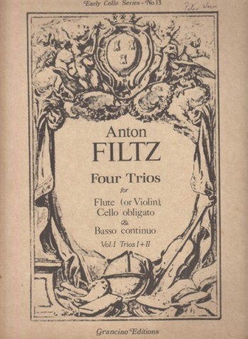 Image for Four Trios for Flute (or Violin), Cello obligato & Basso continuo - Volume 1 Trios I & II