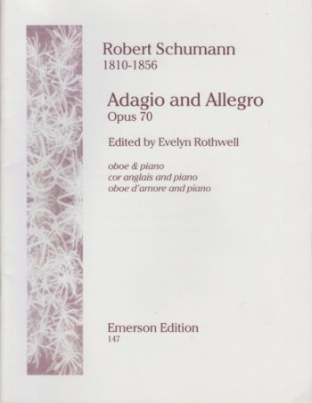 Image for Adagio and Allegro, Op.70 for Oboe (or Cor Anglais) and Piano
