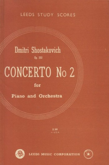 Image for Piano Concerto No.2, Op.102 - Study Score