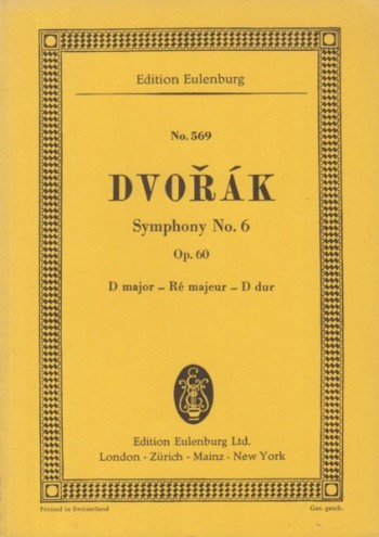 Image for Symphony No.6 in D major, Op.60 - Study Score