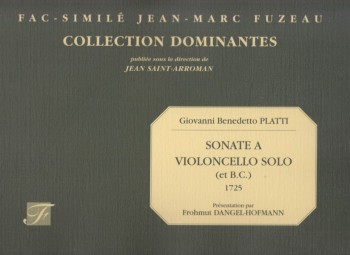 Image for Sonate a Violoncello Solo (et B.C.) 1725 - Facsimile Edition
