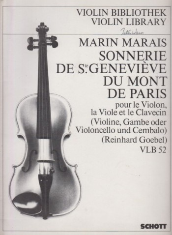 Image for Sonnerie de Ste.Geneviève du Mont de Paris (1723) for Violin (Flute), Gamba (Cello) and Harpsichord - Set of Parts
