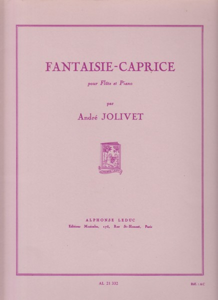 Image for Fantaisie-Caprice for Flute & Piano