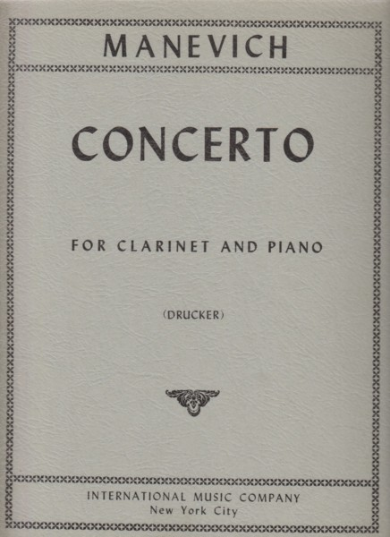 Image for Clarinet Concerto -Clarinet in B flat & Piano